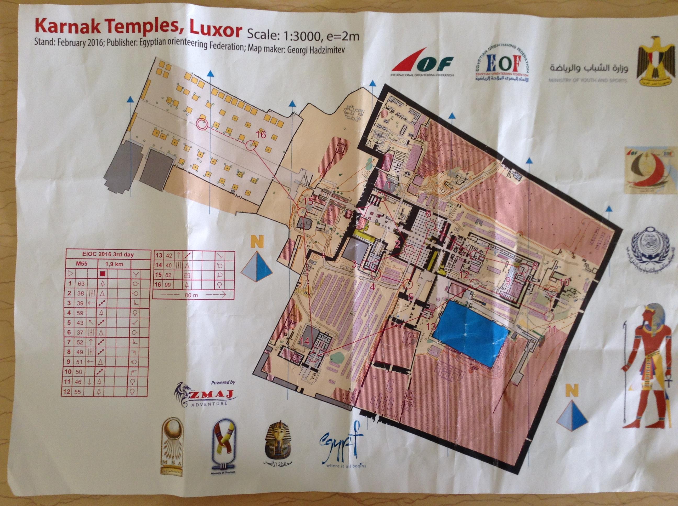 Orienteering map Karnak